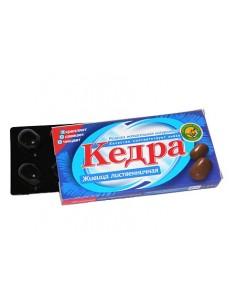 Kedra chewing gum larch resin