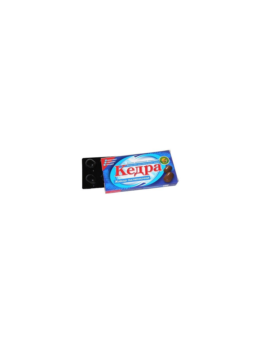 Kedra chewing gum larch resin 8 pcs