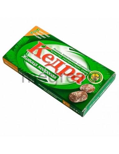 Kedra chewing gum with cedar resin