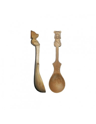 Cedar spoon (bear) 14cm